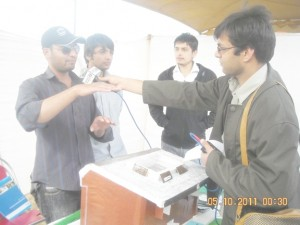 islamic university students interviewd by fm99 on nature carnival 2012