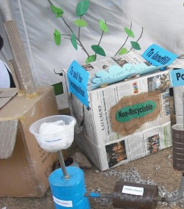 recycling model on wwf nature carnival 2012