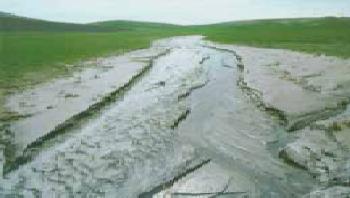 Soil erosion due to rainSoil